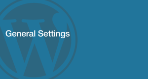 WordPress Admin - General Settings