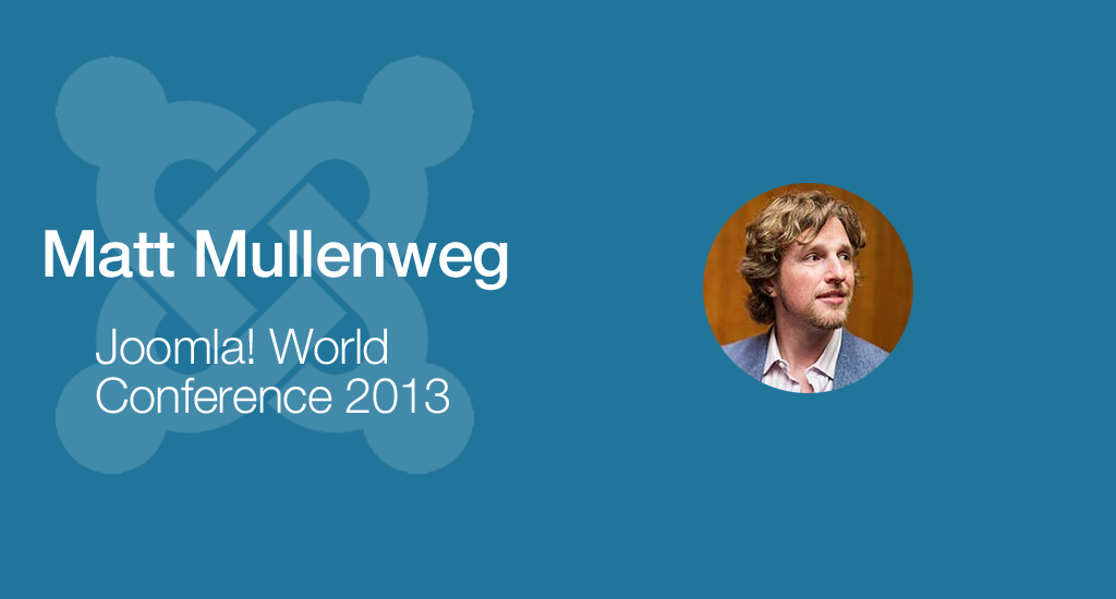 WordPress Founder, Matt Mullenweg, Giving Keynote at Joomla! World Conference