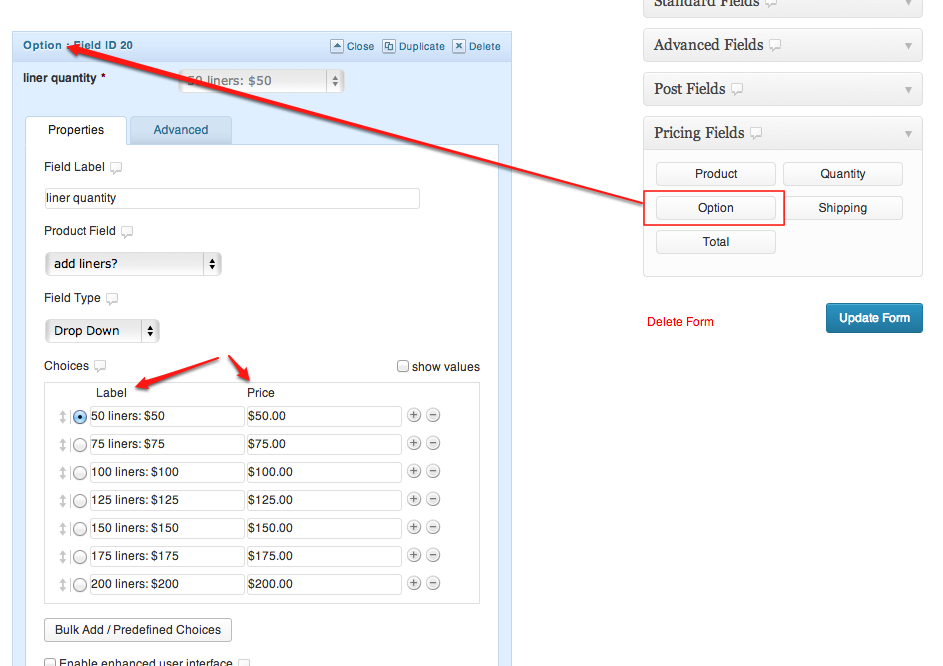 Remove Price Label from WooCommerce Gravity Forms Product