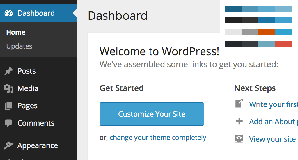WordPress 3.8 Admin Design