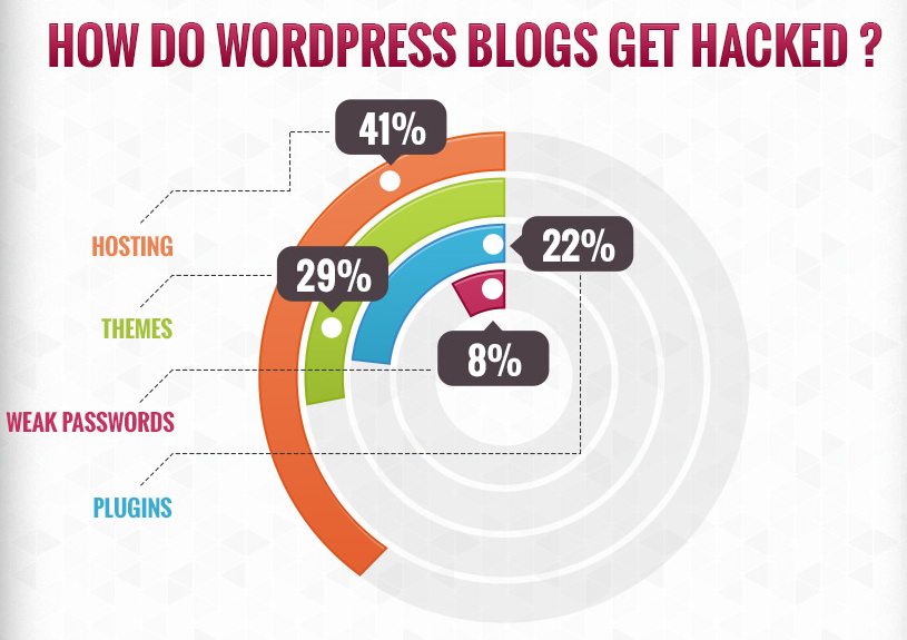 WordPress Hack Statistics Infographic (2013)