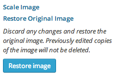 WordPress Edit Image - Restore Original Image