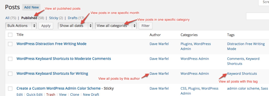 Filter posts in WordPress admin area