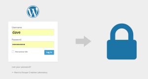 WordPress Security - User Accounts & Passwords Login Screen