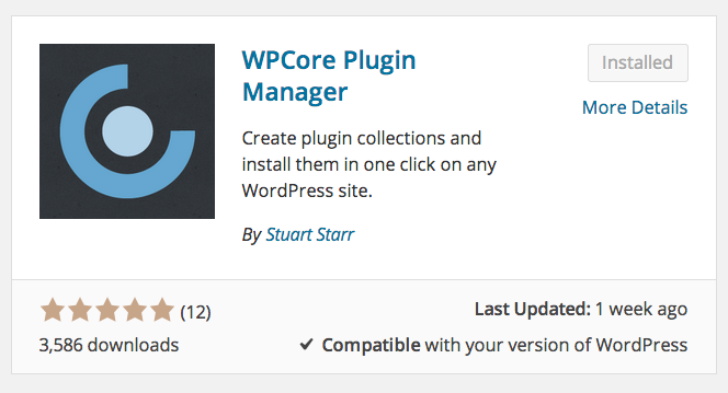 WordPress Plugin Manager - WPCore