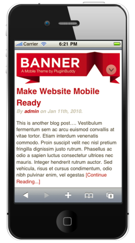 iThemes Mobile - Banner Theme