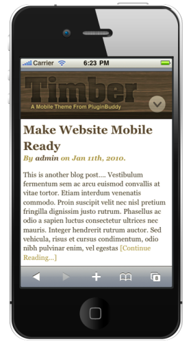 iThemes Mobile - Timber Theme