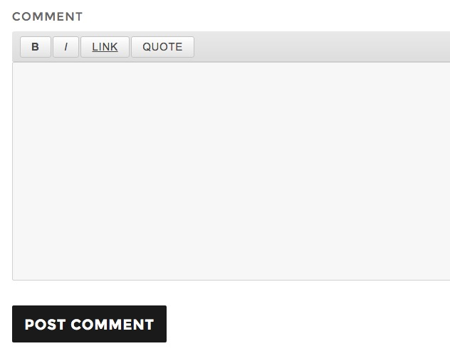 WordPress Comment Quicktag Buttons
