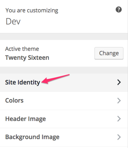Add Favicon to WordPress - Site Identity