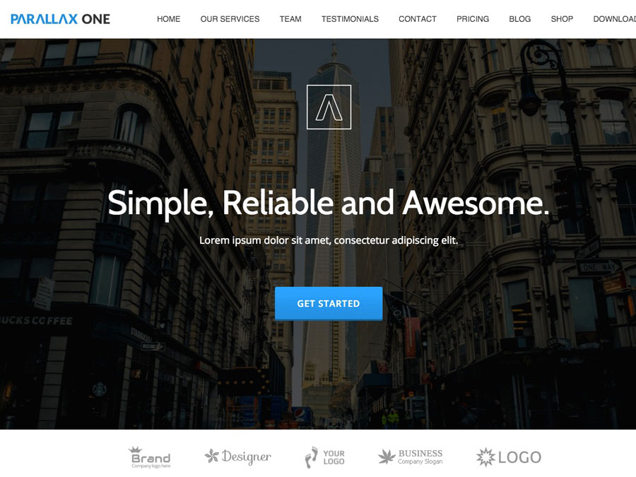 Parallax One Page WordPress Theme Review