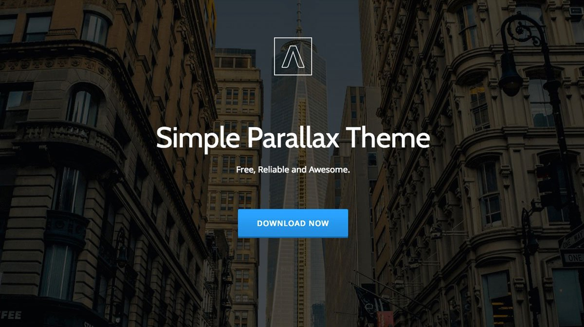 Parallax One Page WordPress Theme