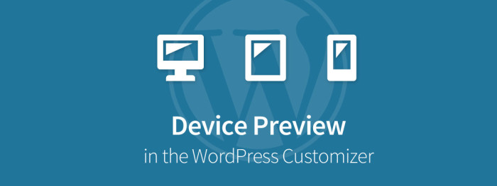 Device Preview in WordPress Customizer