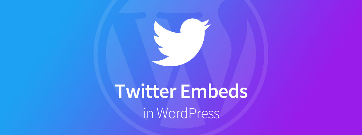 Embed Twitter WordPress
