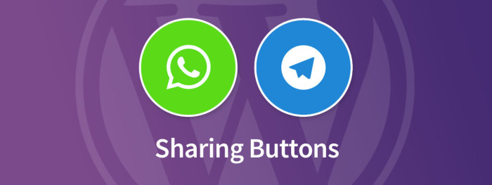 Telegram WhatsApp Sharing Buttons for WordPress