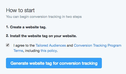 Getting started with Twitter website tag