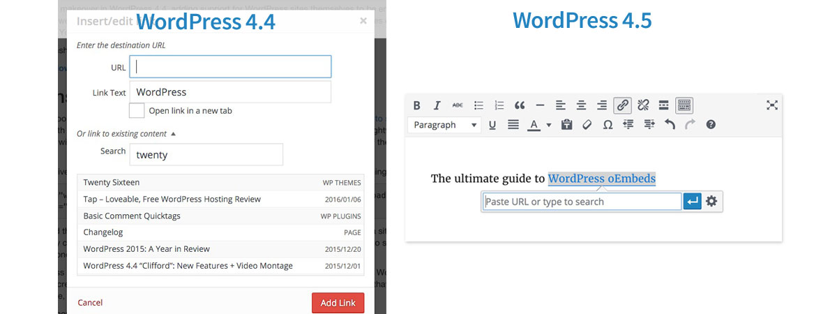 WordPress Add Link