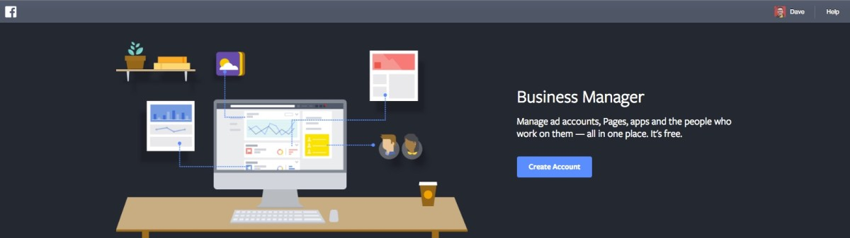 Facebook Business Manager - Create Account button