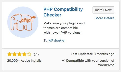PHP Compatibility Checker WordPress plugin