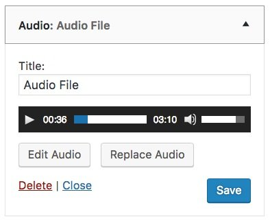 WordPress audio widget