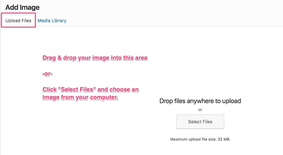 "WordPress ""upload files"" screen"