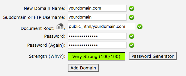 Create an Addon Domain in cPanel
