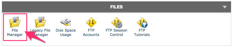 cPanel's File Manager button