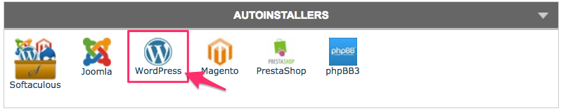 WordPress autoinstaller in cPanel