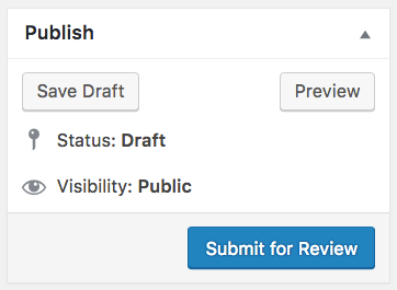 "WordPress ""submit for review"" button"