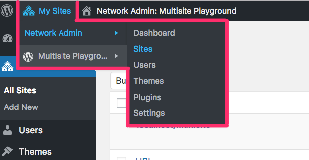 Extra settings menu for Super Admins in WordPress Multisite