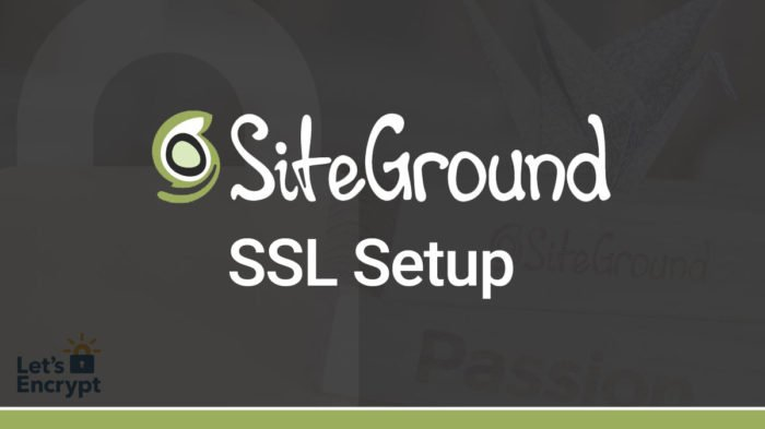 How to Install Free SSL on SiteGround