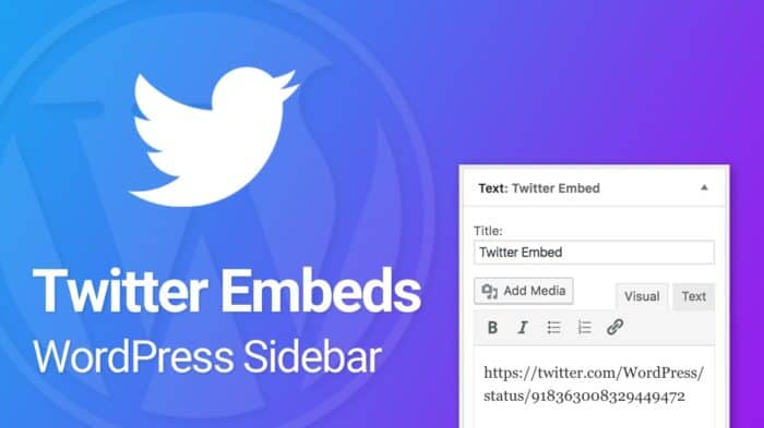How to Embed Twitter Tweets in your WordPress Sidebar