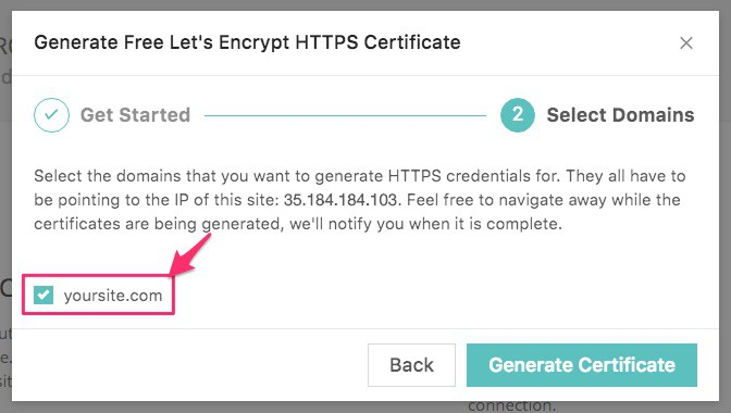 Kinsta hosting SSL install, choose domains