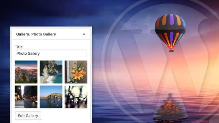 How to add a photo gallery to WordPress sidebar