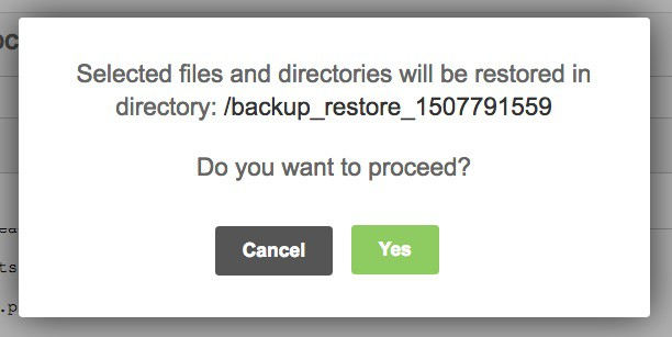 SiteGround restore files to another folder