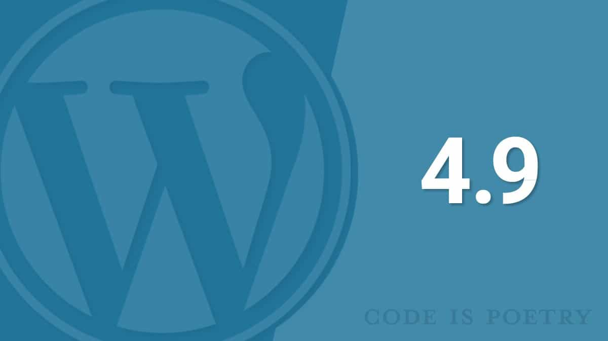 WordPress 4.9 New Features
