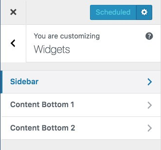 List of WordPress widgets available