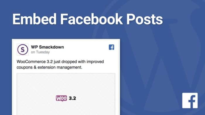 WordPress Facebook embed posts