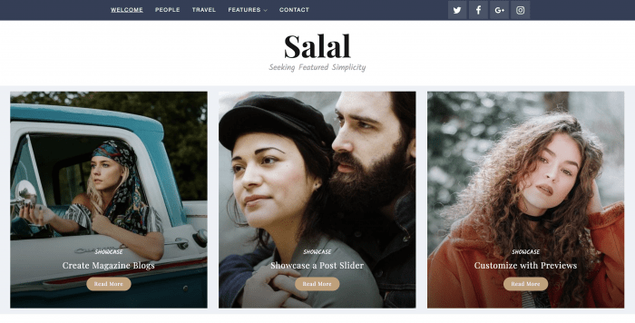 Salal WordPress theme