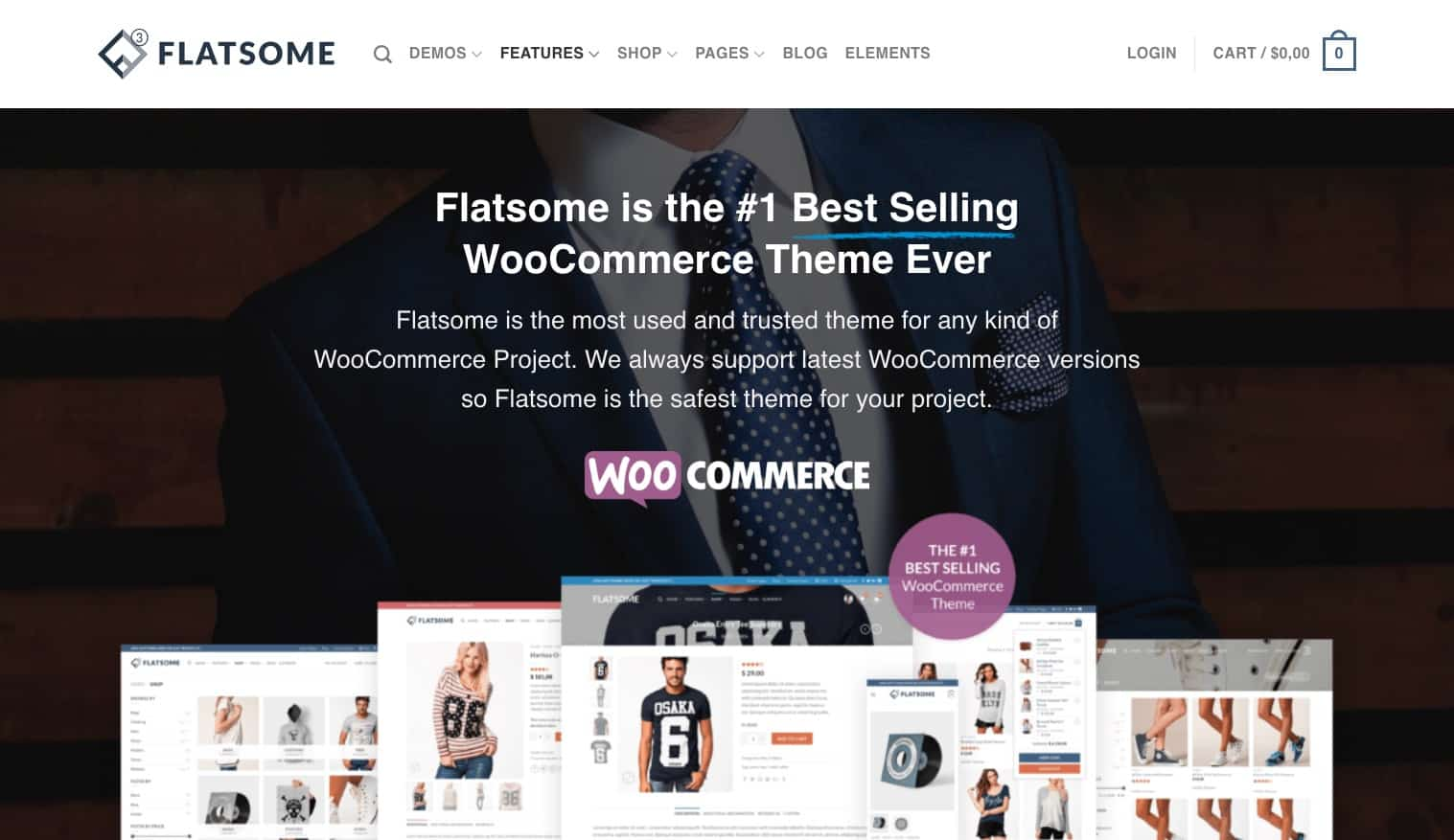 Flatsome is the #1 Best Selling WooCommerce Theme