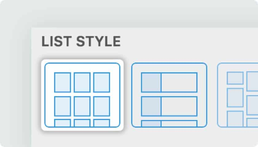 Flatsome grid layout options