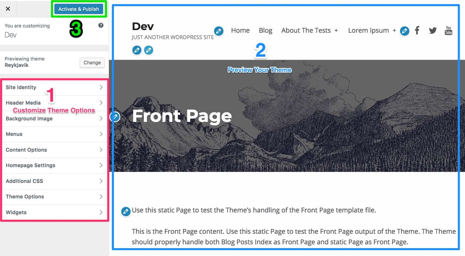 WordPress theme installation steps