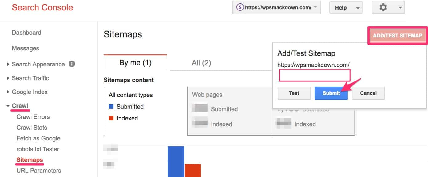 Google Search Console XML sitemap submission