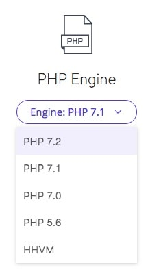 Switching PHP in Kinsta dashboard