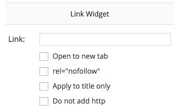 Widget Options linking feature