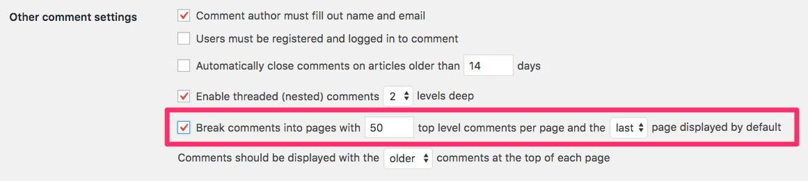 Paginate WordPress comments
