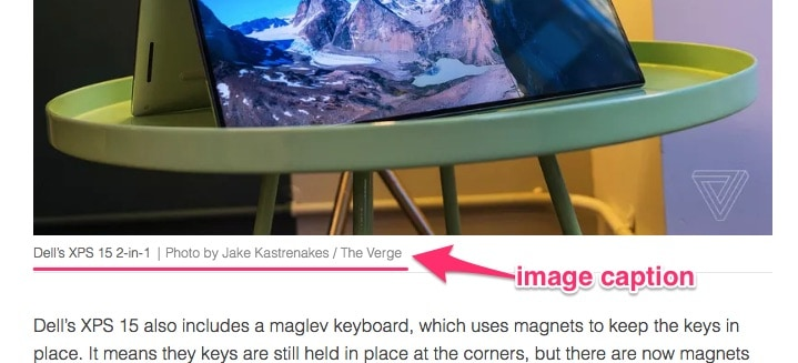Example image caption from theverge.com
