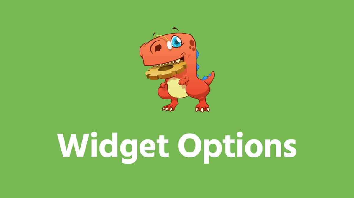 WordPress Widget Options Plugin