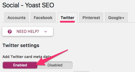 Yoast SEO, add Twitter Card data