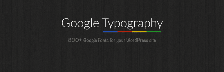 Google Typography Plugin banner